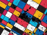 Link toGeometric grunge background vector free