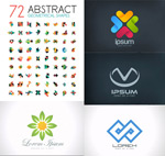 Geometric logo vector