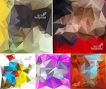 Link toGeometric polygon background vector