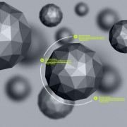 Link toGeometric polygonal objects vector background 02 free