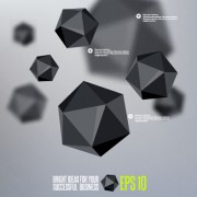 Link toGeometric polygonal objects vector background 04 free