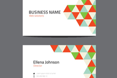 Link toGeometric-shaped business card design vector graph