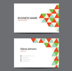 Link toGeometric-shaped business card vector