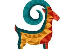 Link toGeometric-shaped scimitar-horned sheep vector