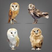 Link toGeometric shapes wild animals vector graphics 03 free