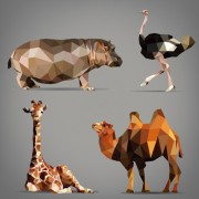 Link toGeometric shapes wild animals vector graphics 05 free