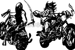 Link toillustration vector motorcycle 2 rider Ghost