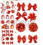 Link toGift box red ribbon vector
