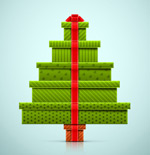 Link toGift boxes stacked christmas tree vector