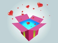 Link toGift with hearts vector free