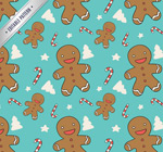 Gingerbread man seamless background vector