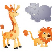 Link toGiraffes elephants and lions icons vector and photoshop brushes free