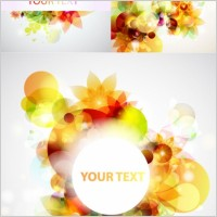 Link toGlare flower background vector