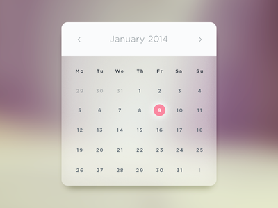 Link toGlass calendar psd