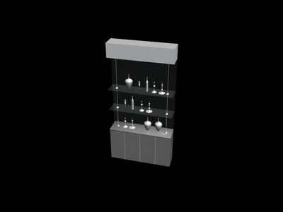 Link toGlass display cabinet collection 3d model