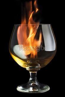 psd flames Glass