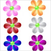 Link toGlass flower vector