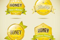 Link toGlass honey texture tag vector
