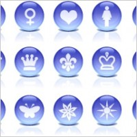 Link toGlass icons blue rounded