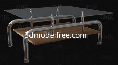 Link toGlass surface stainless tea table 3d model