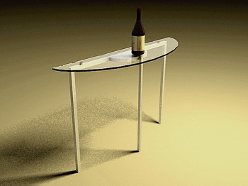 Link toGlass table stylish table, modern furniture 3d models