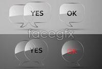 Link toGlass texture dialog box, vector