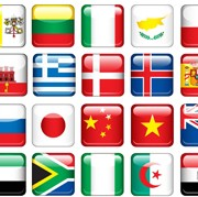 Link toGlass texture flag icons vector set 02 free
