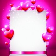 Link toGlass texture heart with paper valentines day background 01 vector