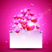 Link toGlass texture heart with paper valentines day background 02 vector
