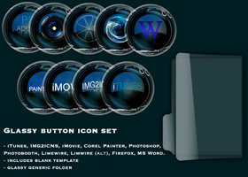 Link toGlassy button icon set