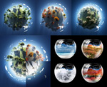 Link toGlobal village with fish tank psd