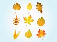Link toGlossy autumn leaf vectors free