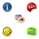 Link toGlossy ecommerce icons