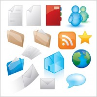 Link toGlossy icon style vector graphics