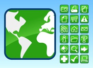 Link toGlossy icons footage vector free