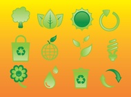 Link toGlossy nature icons vector free