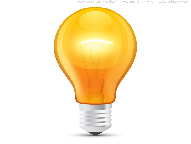 Link toGlossy orange light bulb (psd)