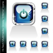 Link toGlossy player buttons design vector 01 free