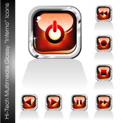 Link toGlossy player buttons design vector 02 free