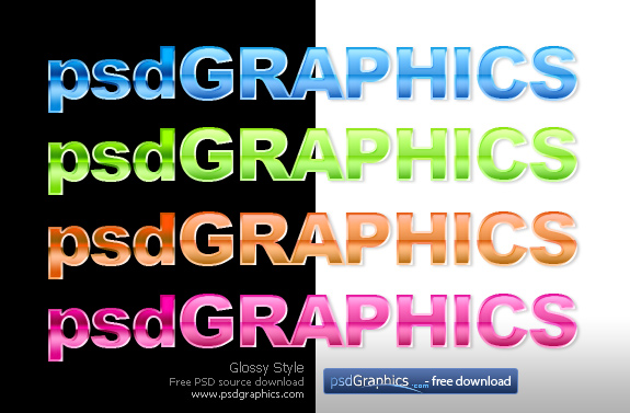Link toGlossy text photoshop style psd