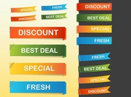 Glossy web banners vectors free