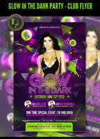 Link toGlow in the dark party - club flyer