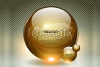 Link toGlowing crystal ball, vector