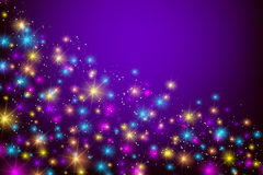 Link toGlowing halo purple background vector