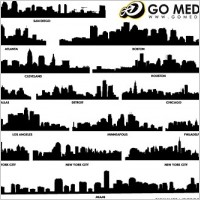 Link toGo media produced vector buildings silhouette
