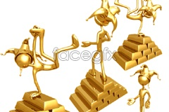 Link toGold 3d cur and bullion vector