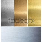 Gold-brushed silver metal psd