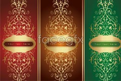 Link toGold continental gorgeous pattern vector