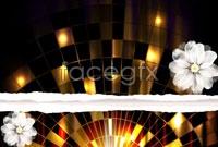Link toGold fancy halo background vector