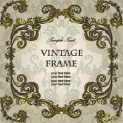 Link toGold floral ornament frame vector 03